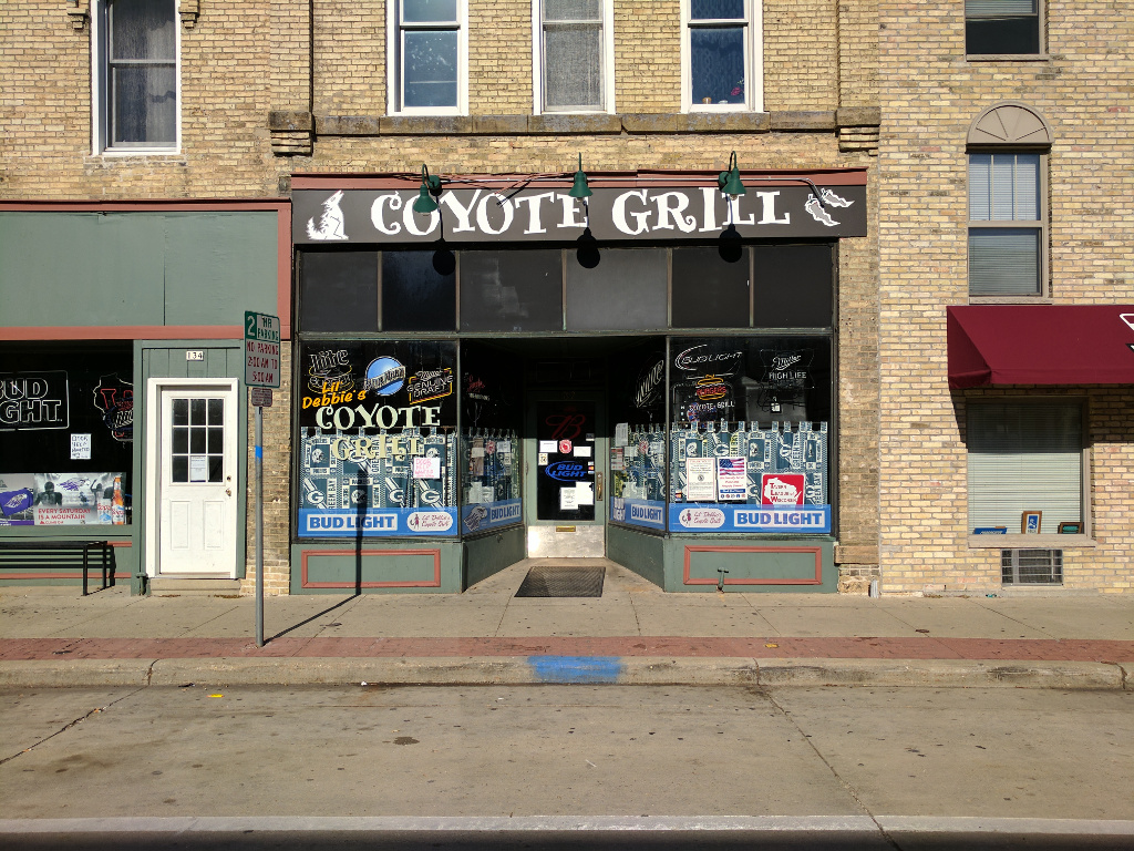 External view of Coyote Grill during the daytime